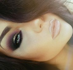 Gold w/ Black & Purple Smokey