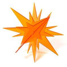 ESTRELLA METACRILATO CON PUNTAS - De muchísimos colores y de dos medidas, aquí encontrarás estas originales estrellas de metacrilato con puntas diseñadas exclusivamente para esta web. Perfectas para decoraciones especiales y de temporada.