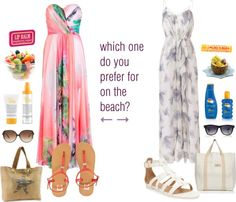"""""""which one do you prefer? beach theme"""" by robijntje60 ❤ liked on Polyvore"""