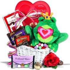 Valentine's Day Homemade Gift Baskets | Toadally Yours Valentine's Day Gift Basket