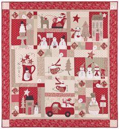 Great little Christmas quilt. Love the snowman!