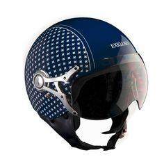 b7998554c8 Motorcycle helmet Design Lys flower blue Freeway by Exklusiv designed in  France