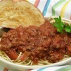 Spaghetti Sauce with Ground Beef Recipe - I did add 1 tsp of sugar per another reviewer's suggestion.