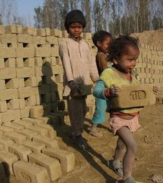 The UNDP Human Development Report places India behind Bangladesh and Pakistan in education and healthcare. This picture of very young migrant children working at a brick kiln typifies the stark inequities of Indian development | Photo & text with Pin-It-Button on http://www.thehindu.com/news/8-indian-states-have-421-million-multidimensionally-poor-people/article868825.ece