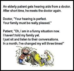 Watch out for the hearing aids!