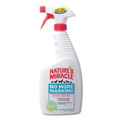 NATURE'S MIRACLE™ No More Marking Pet Stain & Odor Remover Natural Repellent | Stain & Urine Removers | PetSmart