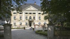 Biedermeier Schloessl Lerchenhof, a romantic hotel originally built in 1848 as a representative country mansion for the young mining industrialist Julius Emanuel Wodley Carinthia, 4 Star Hotels, Castle, Romantic, Homes, Mansions, Country, House Styles, Building