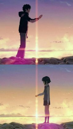 Kimi No Na Wa Wallpaper, Name Wallpaper, Anime Love Couple, Cute Anime Couples, Pantone Color Chart, The Garden Of Words, Your Name Anime, Name Pictures, Anime Films