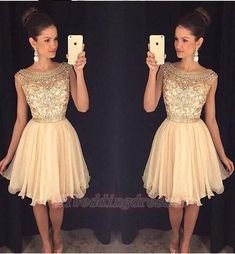 Gorgeous Homecoming Dresses,Pretty Homecoming Dresses,Sparkly Homecoming Dresses,Homecoming Dresses 2016,Homecoming Dresses For Teens, Party Dresses,Cocktail Dresses,Short Prom Dresses,Classy Homecoming Dresses,Pretty Graduation Dresses http://21weddingdresses.storenvy.com/collections/919482-homecoming-dresses/products/17116788-beading-champagne-short-homecoming-dresses-gorgeous-homecoming-dress-for-tee