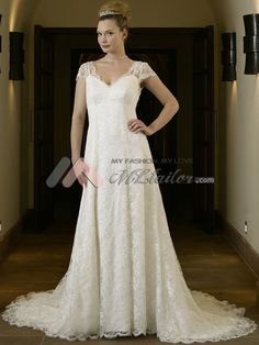 Plus size bridal gown lace wedding dress