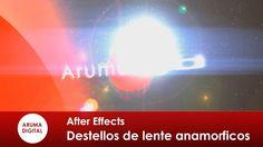 After Effects 127 Destellos de lente anamorficos sin plugins