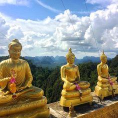 Tiger Cave temple, Krabi, Thailand #temple #thailand #Buddha