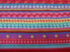 mixed stripey blanket