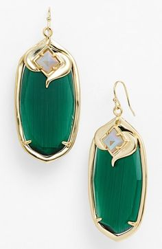 Kendra Scott 'Gabby' Oval Stone Drop Earrings available at #Nordstrom