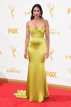 Look Back at the Fan-Frickin'-Tabulous Emmys Outfits From Last Year Padma Lakshmi Wearing Romona Keveza.