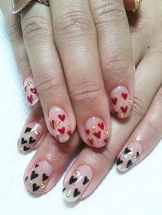 heart VALENTINE #nail #nails #nailart