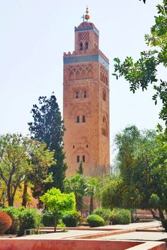 Katoubia Mosque, Marrakech, Morocco - reminds me of Seville