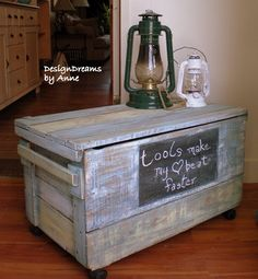 DIY:  Painted Storage Crate Tutorial - easy paint finish dresses up a crate that is used for storage.