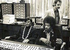Great picture of the first control room at Record Plant NY in 1968 during the recording of - Electric Ladyland.