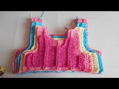 Como hacer canesu a crochet en todas las tallas / How to make canesu for girl dress - YouTube