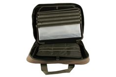 Keep all your fly tying tools and materials well organised with this great design the Airflo Fly Tying Bag. Heavy Duty Cordura Construction 8 Velcro Headed Divider Bags Included Large External Vice Pocket Internal Divider for Systematic Storage Folding Wallet Design for Easy Use Dimensions ( 30cms x 45cms x 5cms)