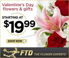 It's a no brainer, everyone loves Flowers on Valentine's Day! Check out what FTD has to offer. They have Valentine Flowers and gifts starting at $19.99! Now that's a great price! Make a choice and have your Valentine's gift ordered now, so that you can relax! http://ifreesamples.com/send-flowers-valentines-day/