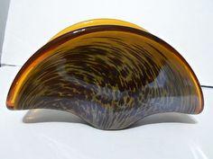 New Murano Art Glass Napkin Holder Leopard Color White Cristel Hand Made Italy  $29.99/9.99 Shipping