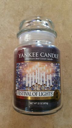 FESTIVAL OF LIGHTS - YANKEE CANDLE FESTIVE LARGE JAR - RETIRED - | eBay Yankee Candle Fall, Yankee Candle Scents, Yankee Candles, Scented Candles, Candle Jars, Candle Holders, Natural Spice, Candle Shades, Black Candles
