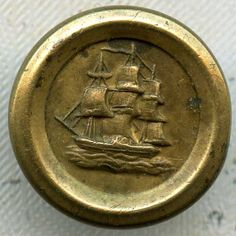 Antique Jacksonian Waistcoat Button 1/2 inch 13mm Golden Age Gilt Brass Sewing on Etsy, $95.00