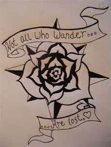 Compass Rose Tattoo Design