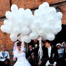 BALONY Białe Ślubne 24cm 10szt