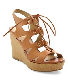 Love this Tan Mercy Wedge Sandal on #zulily! #zulilyfinds