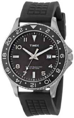 "Timex Men's T2P029KW ""Ameritus"" Watch with Black Silicone Strap"