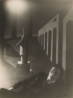 Man Ray, 'Portrait of André Breton (In Front of Giorgio Chirico's Painting, The Enigma of Day)', (1921) Exhibitor : EDWYNN HOUK