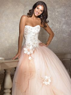 Light Quince Dresses — Two-Tone Pink And White Dress
