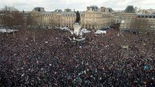 It's estimated that more people took part in the Paris anti-terrorism rally than after the city's liberation in 1944.