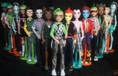monster high boys, Deuce, Clawd, Jackson, Holt, Heath, Gil, Vampire CAM, Gargoyle CAM