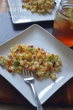 Mexican Street Corn Pasta Salad - Sarcastic Cooking