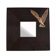Wooden mirror with relief representation of a dove. Design and sculpture by the artist El Phil (Eleftherios A. Dimensions: 25 cm x 25 cm x 1 cm Copper relief representation, mounted on a wooden mirror. Mirrors, Unique Gifts, Copper, Sculpture, Artist, Handmade, Design, Hand Made, Artists