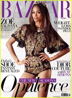 Zoe Saldana covers Harper's Bazaar Magazine Arabia - September 2012 #ZoeSaldana #HarpersBazaar #Arabia