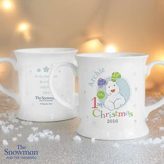 'The Snowdog' My Christmas Loving Mug by Oli & Zo, the perfect gift for Explore more unique gifts in our curated marketplace. Personalized Christmas Mugs, Baby Christmas Gifts, Pink Christmas, Christmas 2016, Personalized Gifts, Snowman And The Snowdog, Wedding Favours, Event Decor, Baby Gifts