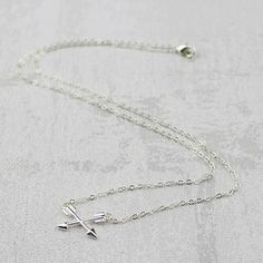 Crossed Arrows Necklace