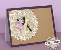 Hero Arts Cardmaking Idea: Lace Doily | Cards | Pinterest