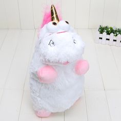 Despicable Me 40cm Despicable Me Fluffy Unicorn Plush Pillow Toy Doll cute Fluffy figure gift