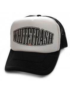 Unisex Black-White Rednek Script Trucker Hat Toxico Clothing