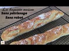 BAGUETTE MAISON SANS ROBOT-SANS PÉTRISSAGE - YouTube Manger Healthy, Bowl Cake, Cake & Co, French Food, Yams, Bread Recipes, Yummy Recipes, Hot Dog Buns, Food And Drink