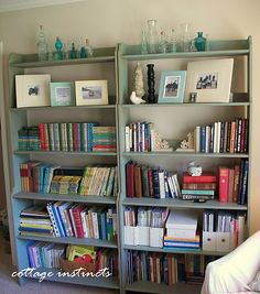 Need to paint my IKEA shelves this blue!