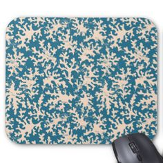 Beau motif de corail tapis de souris