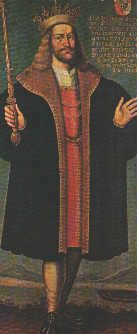 Eric IV Ploughpenny (1216 - 1250). King of Denmark from 1232 to 1241 as co-ruler with his father, Valdemar II. Sole King from 1241 until his death in 1250. He married Jutta of Saxony and had six children. He was murdered in 1250.