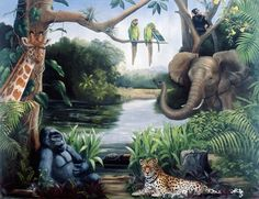 """For Landon's """"jungle animal"""" room that he keeps informing me that he wants."""